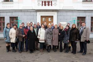 Предсставители Союза наукоградов России в Обнинске март 2016